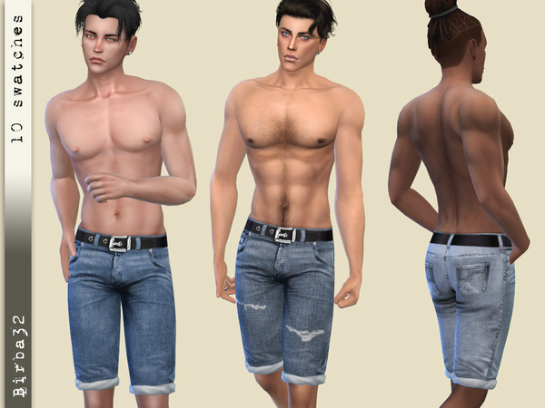 Beach Denim Shorts by Birba32