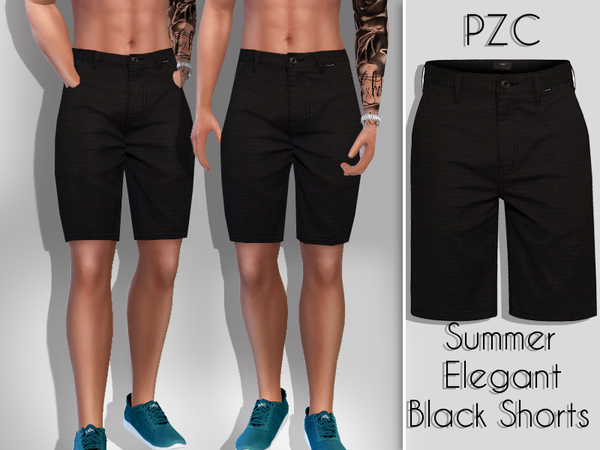 Summer Elegant Black Shorts For Him by Pinkzombiecupcakes