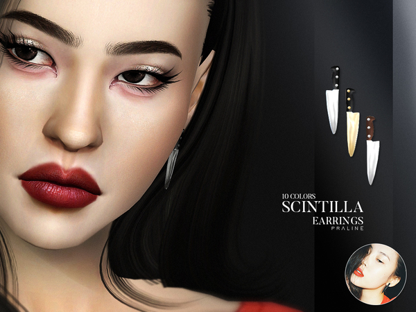 Scintilla Earrings by Pralinesims