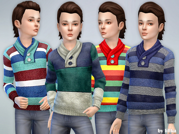 Striped Sweater for Boys by lillka