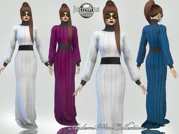 asdemi wool long dress 1 by jomsims