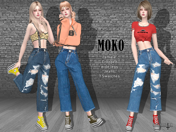 MOKO - Cropped Jeans by Helsoseira