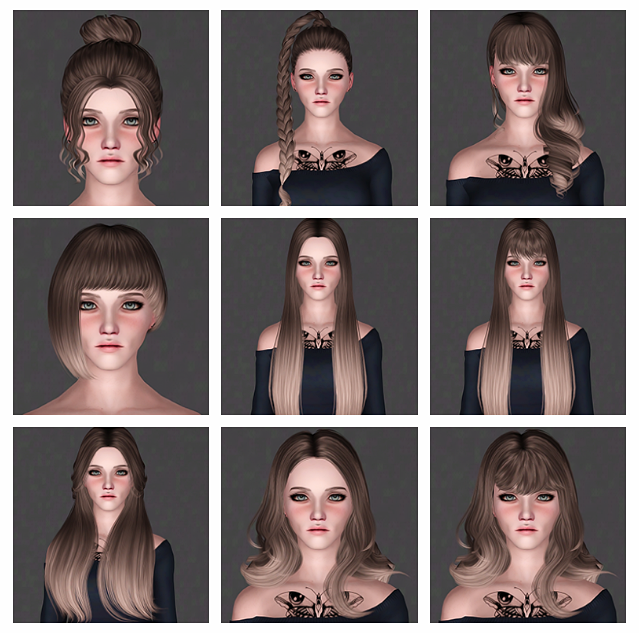 Hair Dump #122 - TSMinhSims by ifcasims