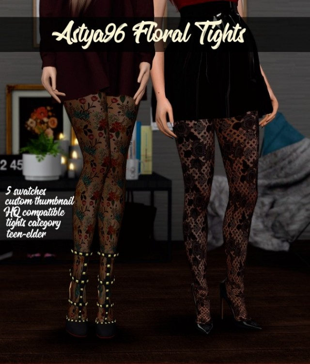 Floral Tights by Astya96