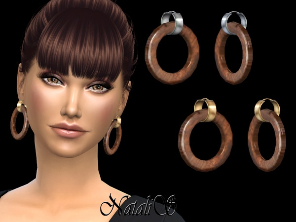 NataliS_Wood hoop earrings