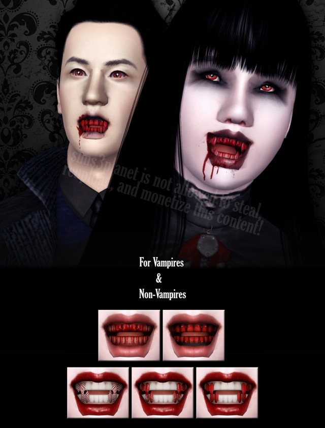 Bloody Vampire Teeth Set by TheBleedingWoodland