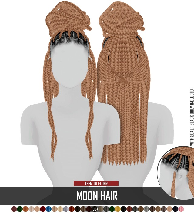MOON HAIR by REDHEADSIMS