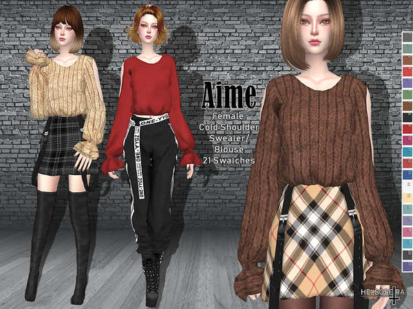 AIME - Cold shoulder - Sweater/Top by Helsoseira