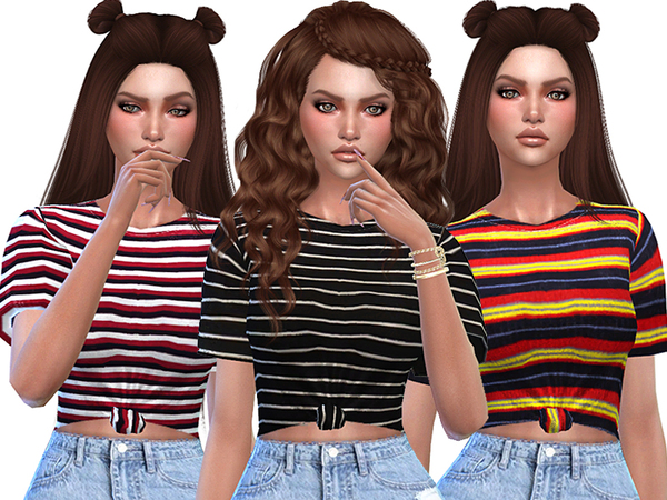 Cute Striped T-shirts Collection by Pinkzombiecupcakes
