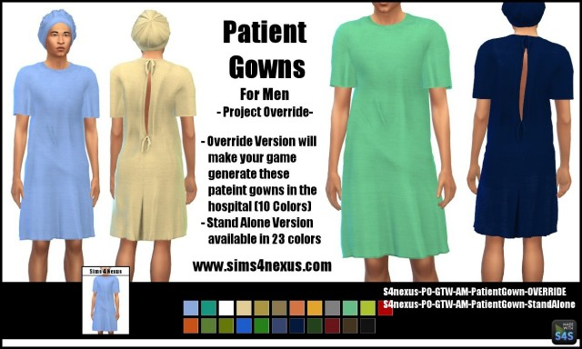 Male Patient Gowns by Sims4Nexus