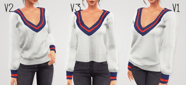V-Neck college sweater by elliesimple
