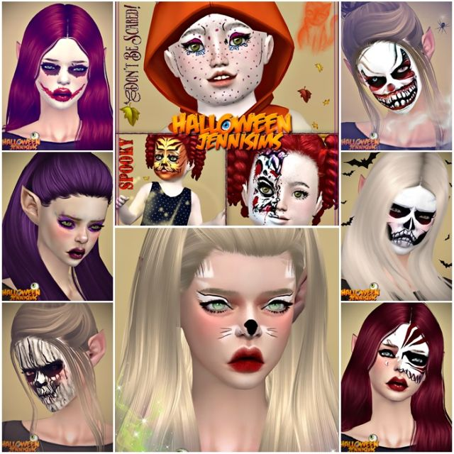 Makeup Halloween October Days (EyeShadow For all ages and genders) by JenniSims