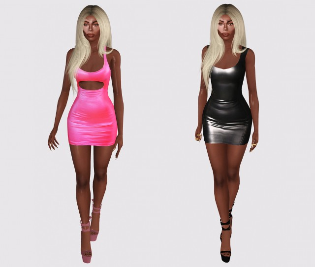 YEEZY Pink Mini Dress and Atsuko Kudo Vest Mini Dress by alecseycool