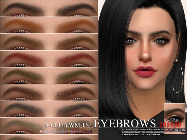 S-Club WM ts4 Eyebrows 201820