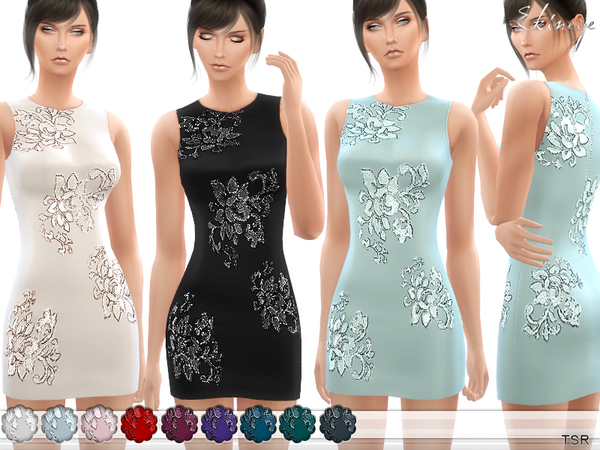 Dress With Sequin Accents by ekinege