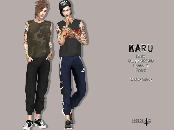 KARU - Athletic Cargo Pants by Helsoseira