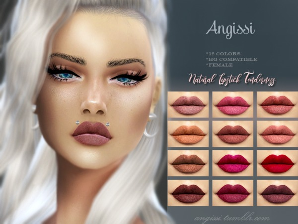 Natural Lipstick Tenderness by ANGISSI