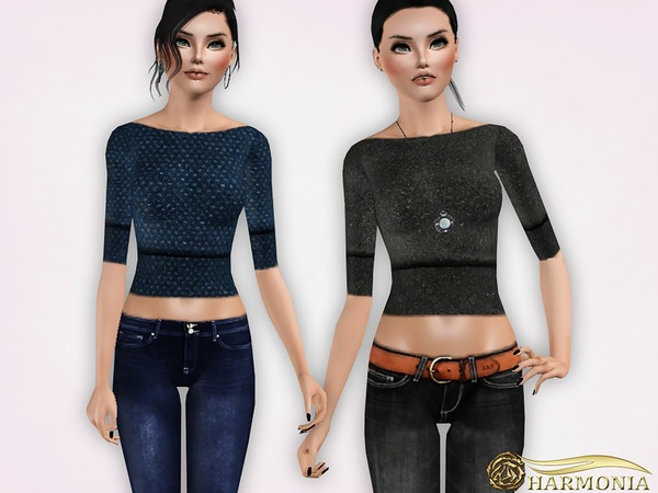 Cropped Cashmere Sweater by Harmonia