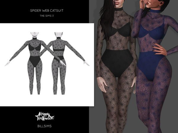 Spider Web Catsuit by Bill Sims