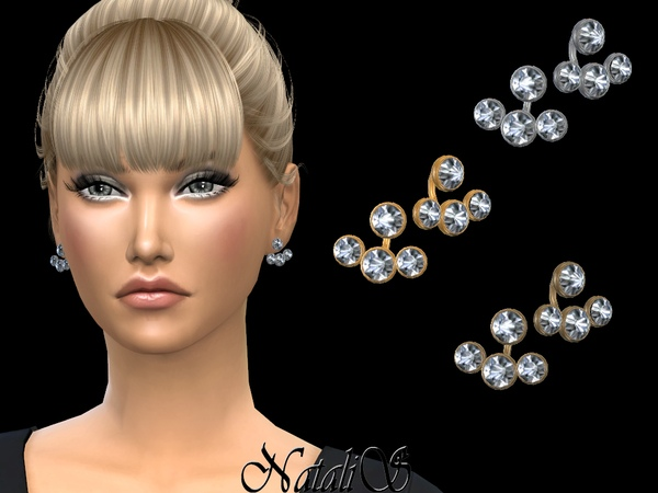 NataliS_Triple crystals ear jackets