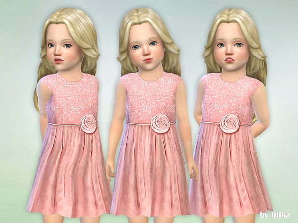 Pink Sequin Dress by lillka