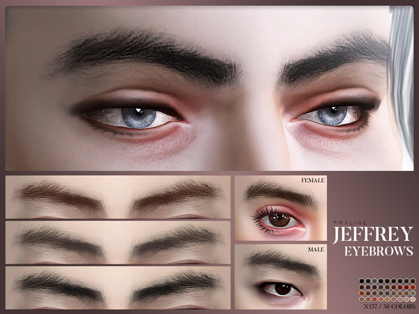 Jeffrey Eyebrows N137 by Pralinesims