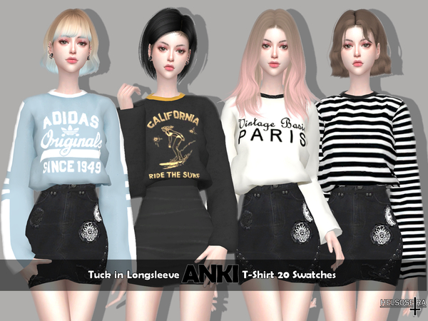 ANKI - Tuck-in T-Shirt by Helsoseira