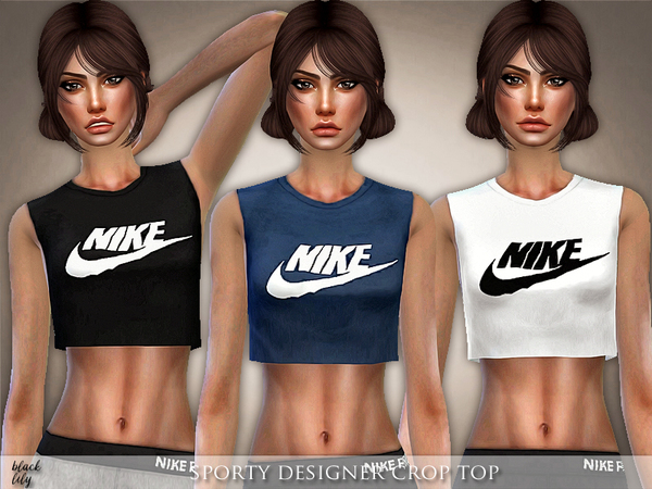 Sporty Designer Crop Top by Black Lily