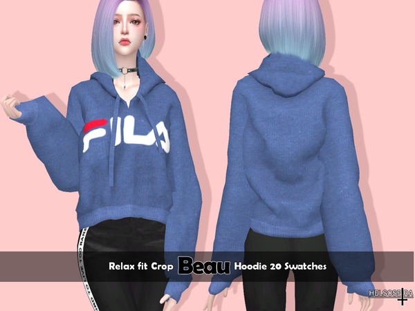 BEAU - Relax Fit Hoodie by Helsoseira
