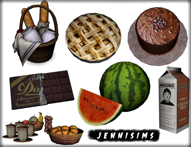 Decorative Food Clutter (7 Items) by JenniSims