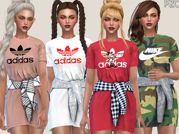 Adidas Sporty Dress by Pinkzombiecupcakes
