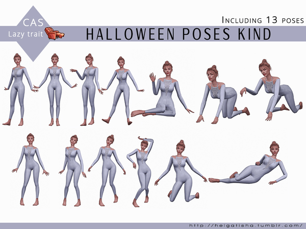 Halloween poses Kind CAS by HelgaTisha