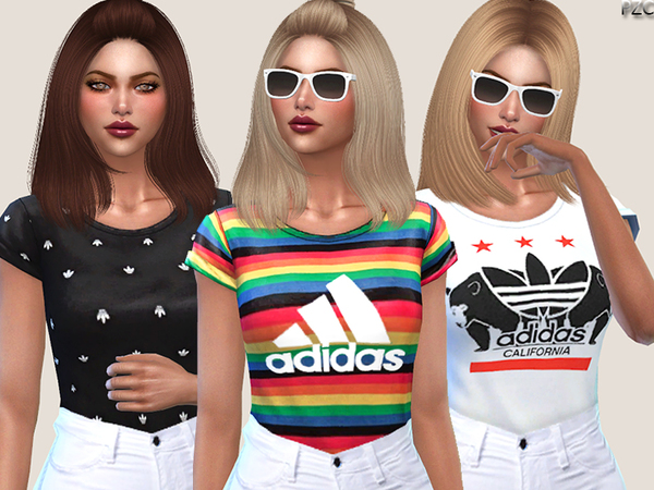 Adidas Tees Collection by Pinkzombiecupcakes