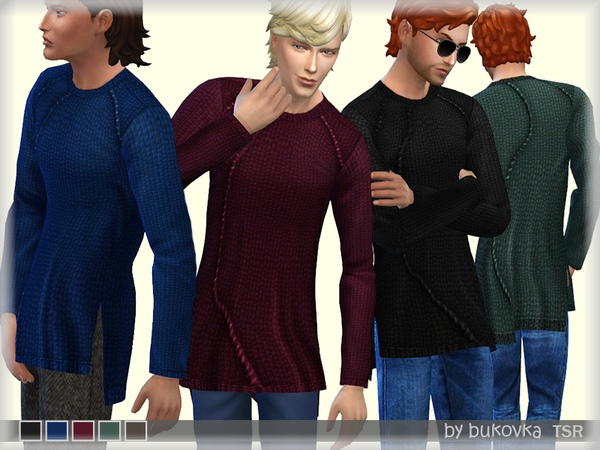 Textured Sweater by bukovka
