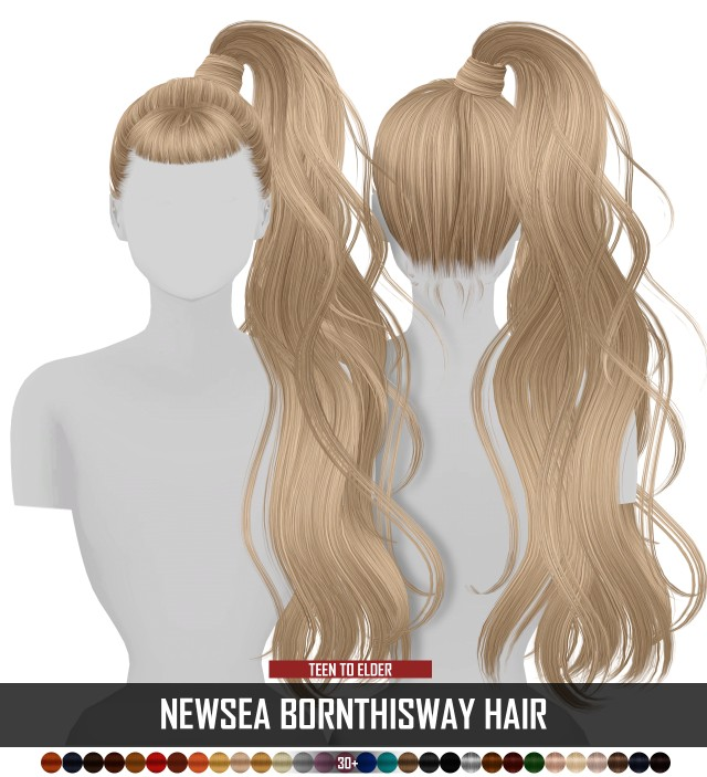 NEWSEA BORNTHISWAY HAIR by Redheadsims