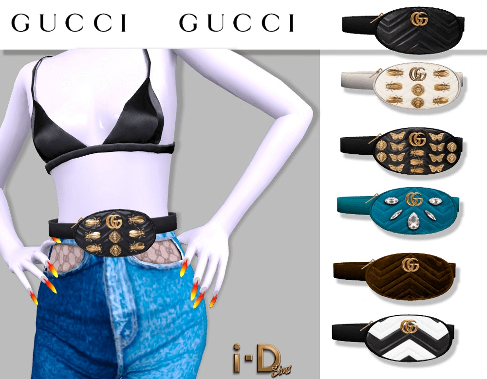 Gucci Marmont Matalasse Belt Bag Exclusive by i-D sims