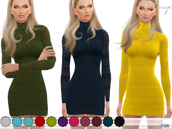 Cable Knit Lace Dress by ekinege