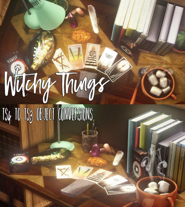 TS4 TO TS3 Witchy Things by Teakoya
