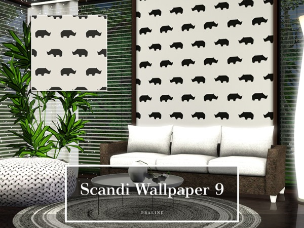 Scandi Wallpaper 9 by Pralinesims
