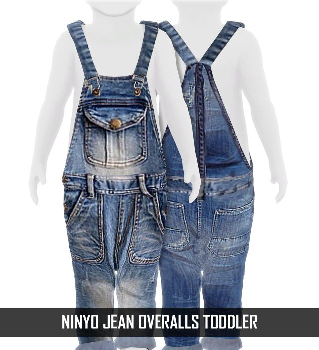 NINYO JEAN OVERALLS TODDLER by REDHEADSIMS