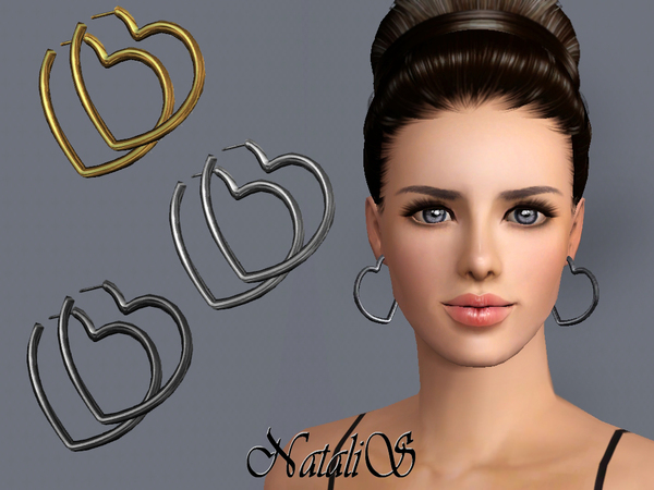 NataliS TS3 Heart shape hoop earrings FT-FA