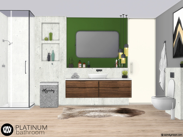 Platinum Bathroom by wondymoon