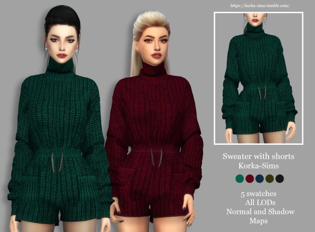 Sweater with shorts by Korka-Sims
