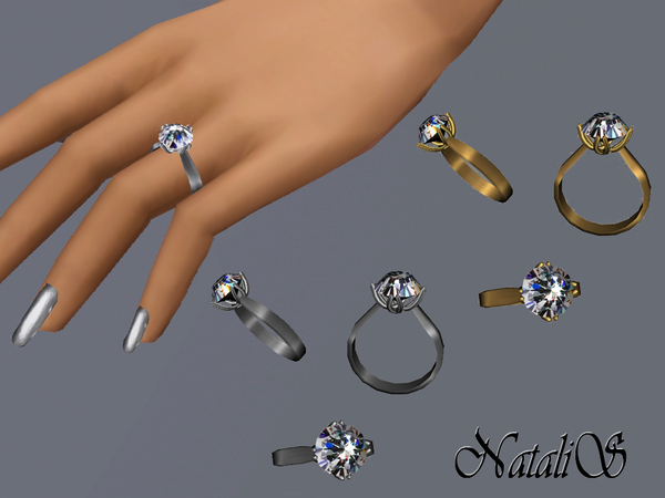 NataliS TS3 Round solitaire diamond ring