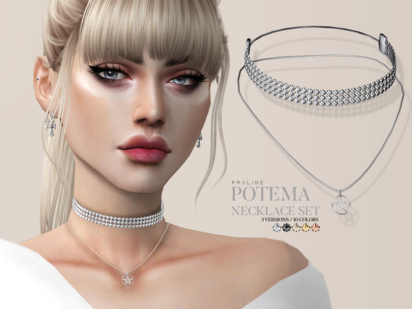 Potema Necklace Set by Pralinesims