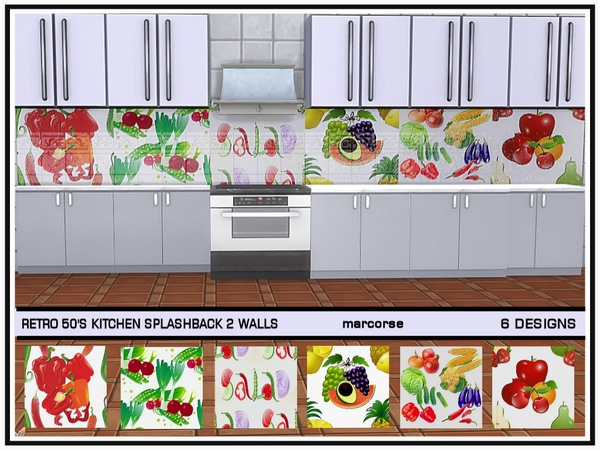 Retro 50's Kitchen Splashback 2 Walls_marcorse