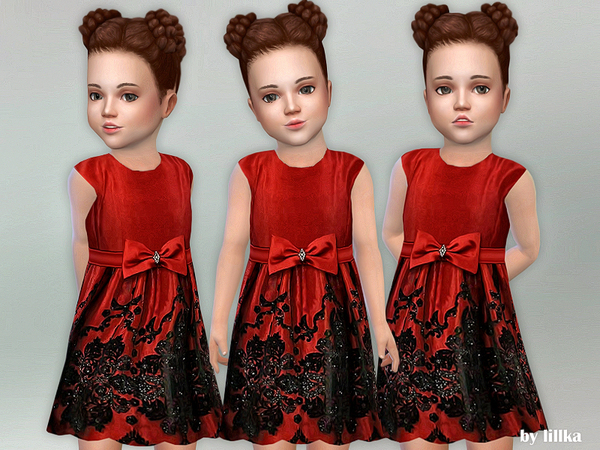 Red Bow Toddler Dress by lillka
