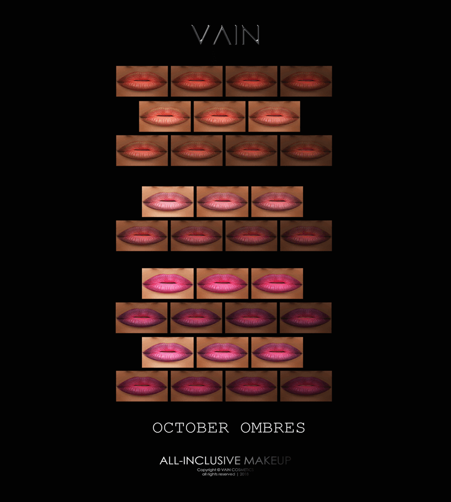 October Ombre Matte Collection by VAIN (MAC Cosimetics)