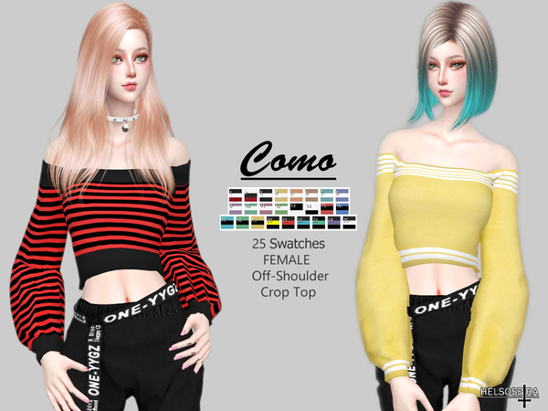 COMO - Off Shoulder - Top by Helsoseira