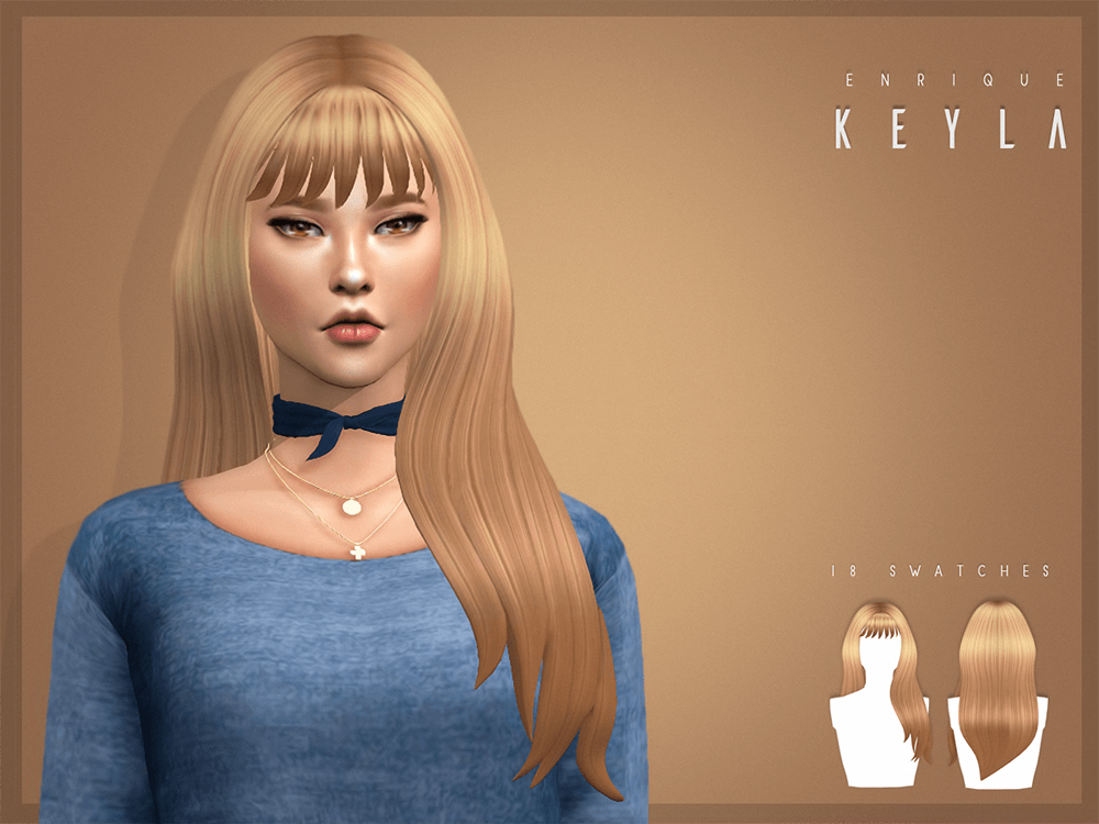 Keyla Hairstyle_F by Enrique (Heavendy-cc)